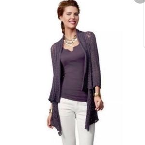 CAbi 719 Timeless Knit Open Front Cardigan Size S